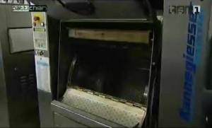 Lavatrice in azione durante la trasmissione