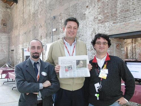 Roberto Scano, Gigi Cogo ed Andrea Casadei
